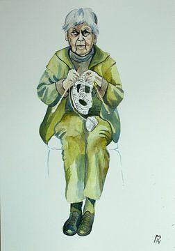 oude vrouw von Renée Teunis