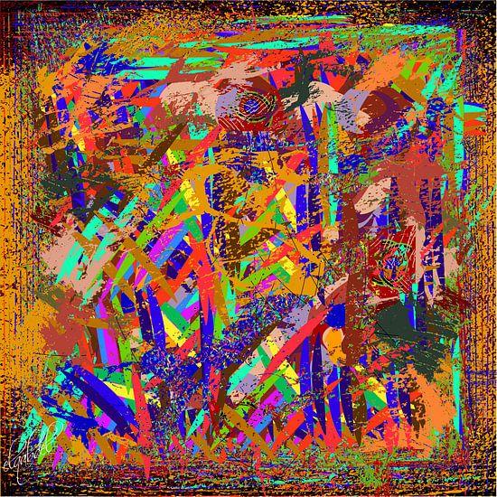 Loodrechte en horizontale gekleurde en geometrische vormen