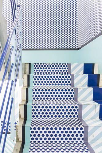 Tokio trappenhuis, Japan, blauw van