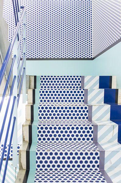 Tokio trappenhuis, Japan, blauw