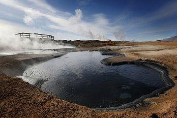 Vulkanische modder bubbelt in IJsland van Fleur Halkema