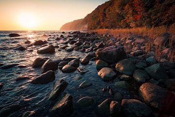 Zonsopgang op het eiland Rügen van Martin Wasilewski