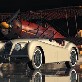 Jaguar XK 120 Een klassieke Britse sportwagen van Jan Keteleer