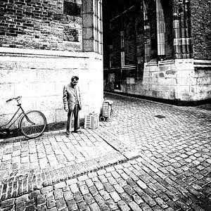 Straatmuzikant Utrecht Domstad