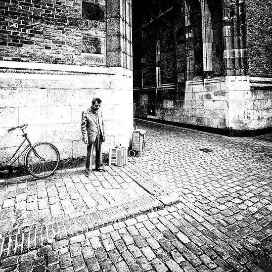 Straatmuzikant Utrecht Domstad van Rob van der Teen