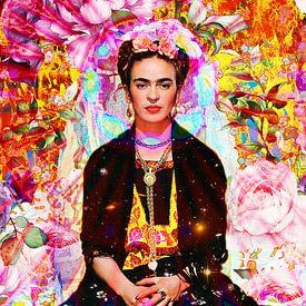 Frida Kahlo Lotus von Giovani Zanolino