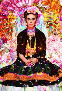 Frida Kahlo Lotus van Giovani Zanolino