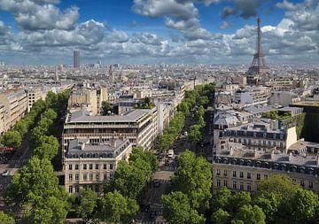 Parijs en de Eiffeltoren van Jan Kranendonk