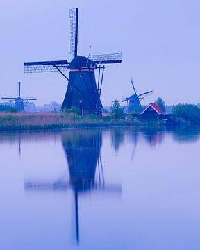 Een vroege ochtend bij de Kinderdijk van Henk Meijer Photography