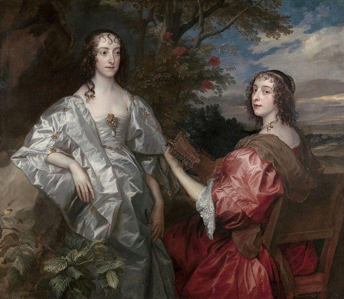 Katherine, Gräfin von Chesterfield, und Lucy, Gräfin von Huntingdon, Antoon van Dyck von Meesterlijcke Meesters