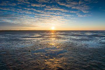 Sonnenaufgang am Wattenmeer von Martin Wasilewski