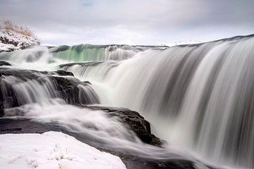Der Reykjafoss-Wasserfall in Nordisland von Gerry van Roosmalen