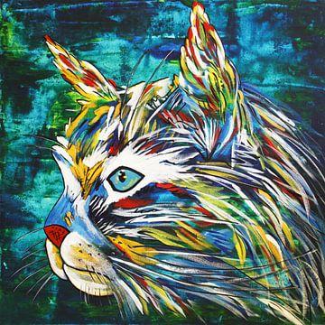 Katze Liebe von Kathleen Artist Fine Art