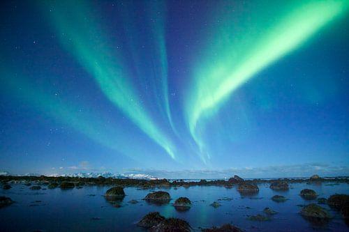 Noorderlicht magie in noord Noorwegen
