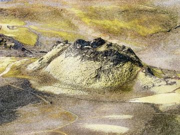 Vulkaantje bij Laki, IJsland van