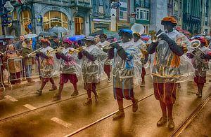 Sinterklaasfeest met zwarte Pieten