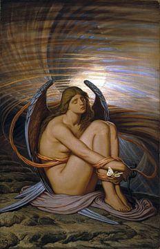 Ziel in Bondage, Elihu Vedder, 1892 van Atelier Liesjes