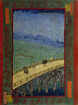 Vincent van Gogh. Brug in de regen: naar Hiroshige, 1887 van