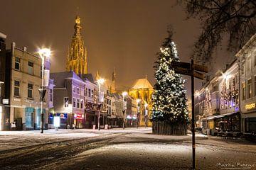 Kerst en sneeuw in Breda van Martijn Mureau