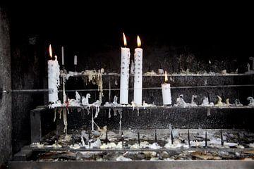 Kaarsen sfeerbeeld Japan van Kees van Dun