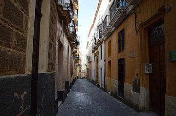 Calle Botega Cadiz , antieke straat in Andalucía van Coco Gonzalez