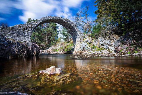 Schotland: Carrbridge - oudste stenen brug van de Highlands