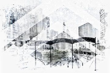 Geometric Art CHICAGO Downtown van