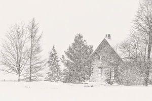 Vielle maison l'hiver van