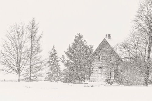 Vielle maison l'hiver
