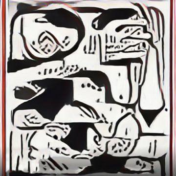 Abstract Inspiratie LXXVI van Maurice Dawson