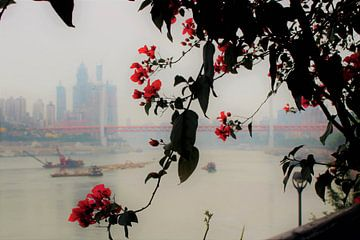 Yangtze Rivier Poëzie 1 van Loretta's Art