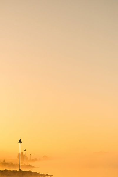 Ochtendlicht aan de IJssel - 4 van Damien Franscoise