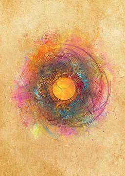 Fraktale abstrakte Kunst Sonne #Fraktale #Abstrakt von JBJart Justyna Jaszke