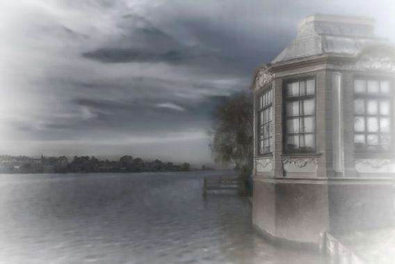 surrealistische blik op de rivier