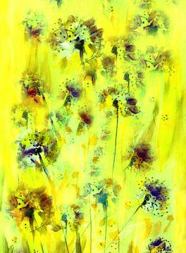 Alliumfrühling in Gelb von Claudia Gründler