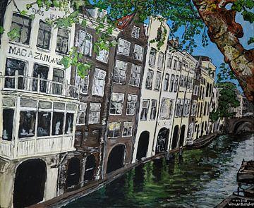 De Oudegracht in Utrecht vanaf de Gaardbrug van Wouter Bisschop