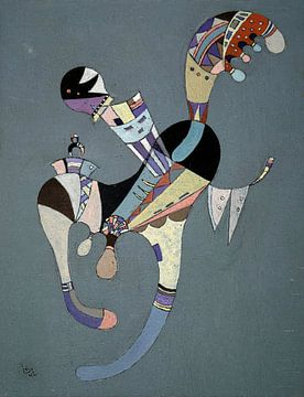 Een zwevende figuur, Wassily Kandinsky