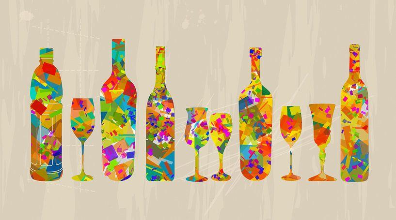 Flessen en glazen van Marion Tenbergen