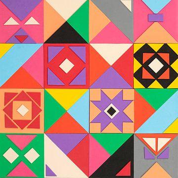 Blok geometrische figuren. van Pieter Hochstenbach