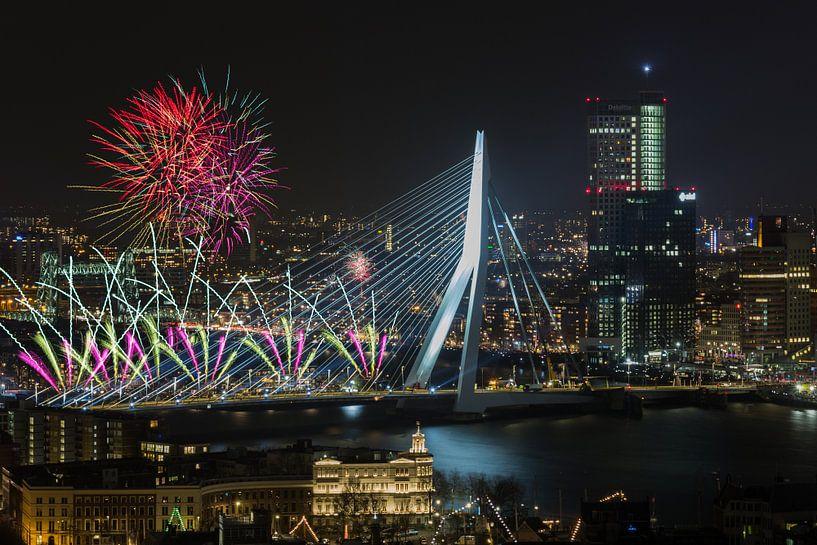 Nationaal Vuurwerk 2018 in Rotterdam van MS Fotografie | Marc van der Stelt
