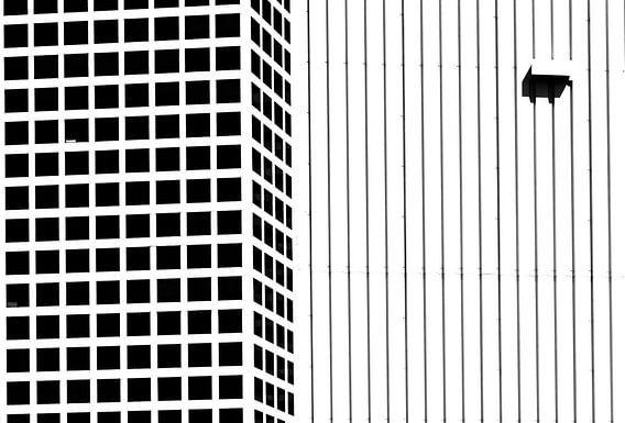 Abstract rotterdam in zwartwit
