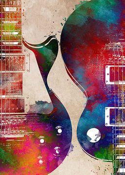 Gitaar 15 muziekkunst #gitaar #muziek van JBJart Justyna Jaszke