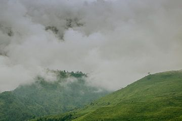 Grüne Berge zwischen den Bergen von Maarten Borsje