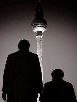 Berlin - Marx Engels Statue van