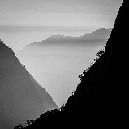 Bergen in Nepal - Vierkant