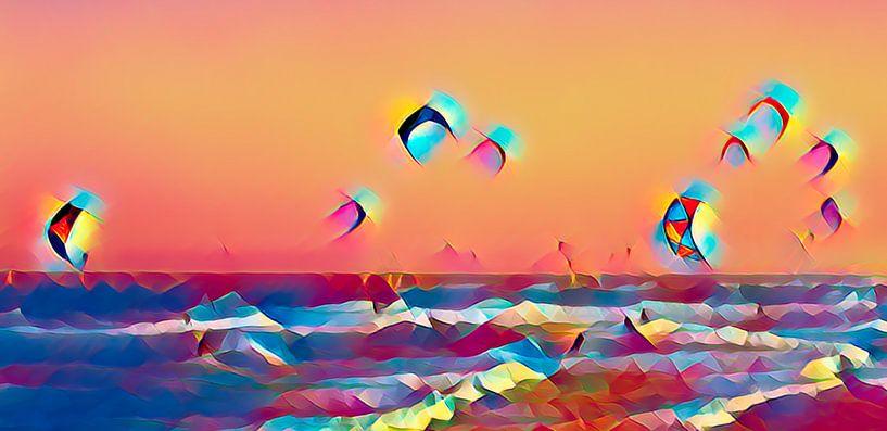 Kitesurfen van Jacqueline Gerhardt