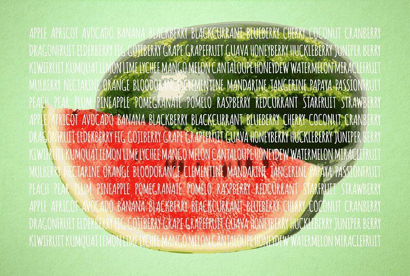 Fruities in kleur Watermeloen van Sharon Harthoorn