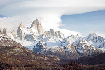 Andesgebergte in Patagonië, mount Fitz Roy van Armin Palavra
