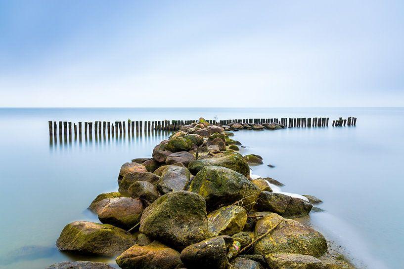Golfbreker aan het IJsselmeer, Enkhuizen van Etienne Hessels