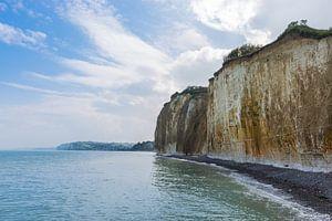 Kliffen van de Normandische Kust in Normandie, Frankrijk van